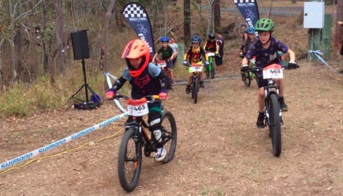 Kids racing at Tyamolum Scout Camp